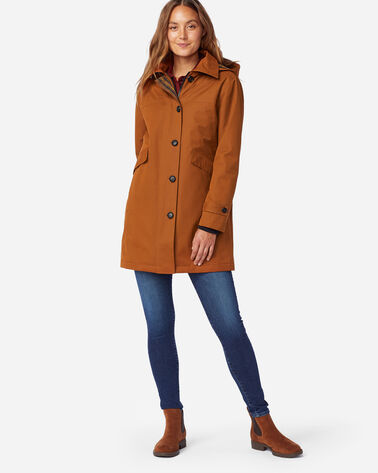 ALTERNATE VIEW OF WOMEN'S EASTLAKE DUFFEL COAT IN WHISKEY