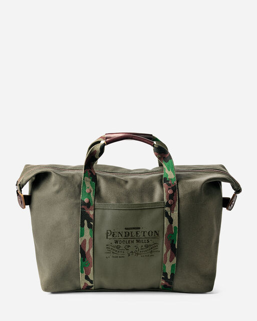 COTTON CANVAS GYM BAG IN PINE