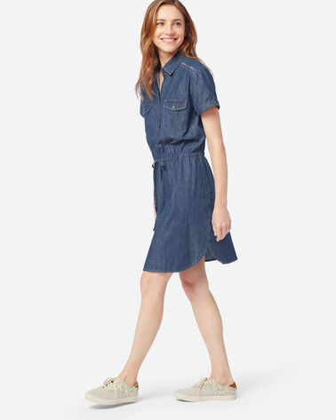 STITCHLINE CHAMBRAY DRESS IN MEDIUM DENIM