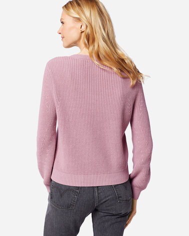 ADDITIONAL VIEW OF WOMEN'S EMILIE V-NECK SWEATER IN LAVENDER