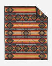 ADDITIONAL VIEW OF PUEBLO DWELLING HERITAGE BLANKET IN DARK CHARCOAL