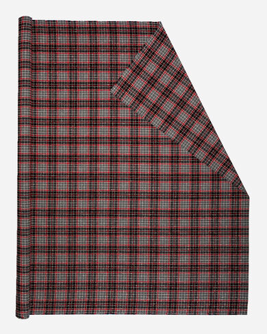 BOUCLE PLAID FABRIC IN BLACK/RED