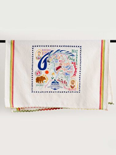 NATIONAL PARK EMBROIDERED DISH TOWELS, GLACIER PARK, large