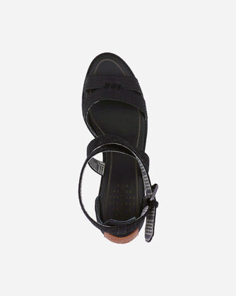 ALTERNATE VIEW OF WOMEN'S BAYLANDS STRAPPY WEDGES IN BLACK