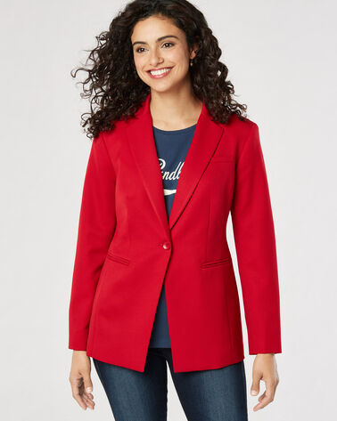 SEASONLESS WOOL BLAZER, TANGO RED, large
