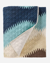 SAGUARO PRINTED QUILT SET, AQUA/NAVY, large
