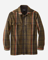 MEN'S HESTON WOOL COAT IN BROWN/GREEN PLAID