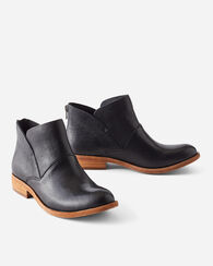 RYDER LEATHER BOOTIES, BLACK, large