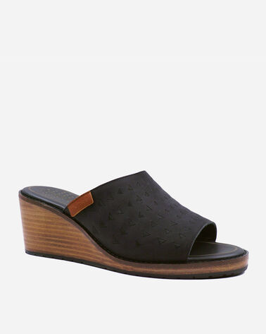 ALTERNATE VIEW OF WOMEN'S PECONIC WEDGES IN BLACK