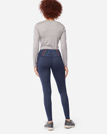 ADDITIONAL VIEW OF LEGGINGS IN NAVY HEATHER