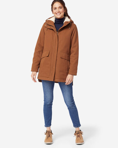 ADDITIONAL VIEW OF WOMEN'S FLORENCE A-LINE HOODED COAT IN WHISKEY
