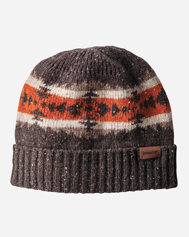 HAWKEYE KNIT BEANIE, BROWN, large