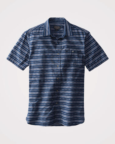 FITTED KAY STREET STRIPE SHIRT, BLUE STRIPE, large