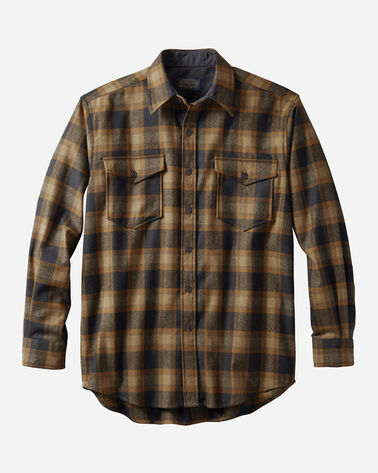 GUIDE SHIRT IN OLIVE/BLACK CHECK