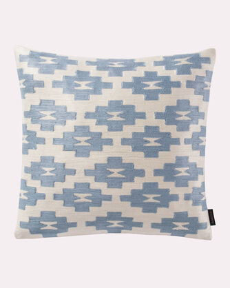 SILVER BARK EMBROIDERED PILLOW