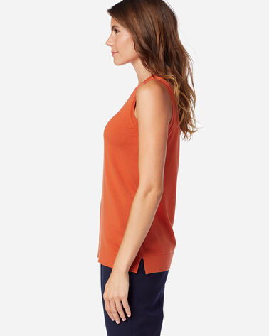 ALTERNATE VIEW OF WOMEN'S COLBY SLEEVELESS CREW IN SPICED ORANGE