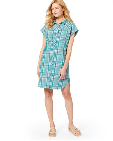 SUNNYSIDE TWO POCKET SHIRT DRESS, TEAL, large