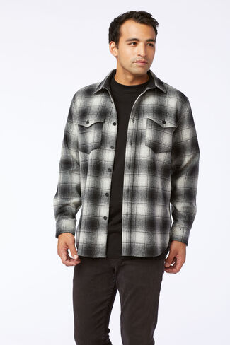 GUIDE SHIRT IN NATURAL/BLACK PLAID