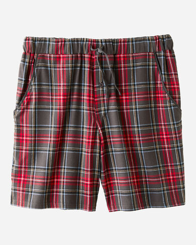 FLANNEL SLEEP SHORTS, GREY STEWART TARTAN, large