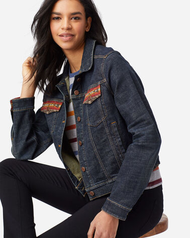ALTERNATE VIEW OF WOMEN'S SIERRA RIDGE JEAN JACKET IN DENIM