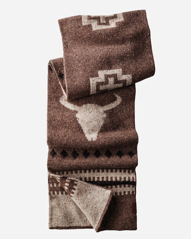 JACQUARD SCARF, TAN AMERICAN WEST, large