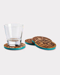 ACACIA WOOD COASTERS, SET OF 4, TURQUOISE, large