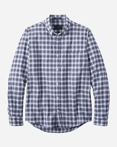 MEN'S EVERGREEN STRETCH MERINO SHIRT IN TEAL/GREY/WHITE CHECK