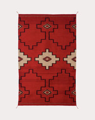 STEPS TO THE SKY RUG, RED/BLACK, large