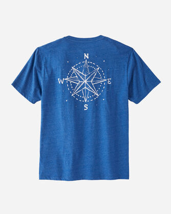 ADDITIONAL VIEW OF MEN'S NORTH STAR GRAPHIC POCKET TEE IN TRUE BLUE HEATHER