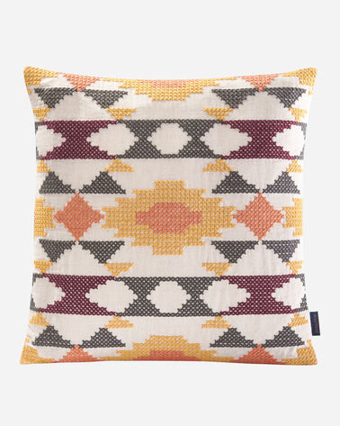 ARVADA CROSS STITCH PILLOW, RED MULTI, large