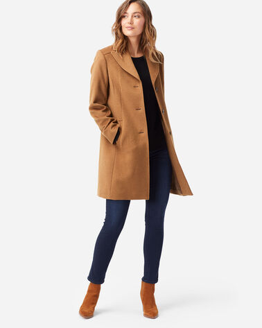 WOMEN'S WALKER WOOL COAT IN CAMEL