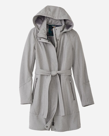 TECHRAIN BELTED COAT, LIGHT GREY, large