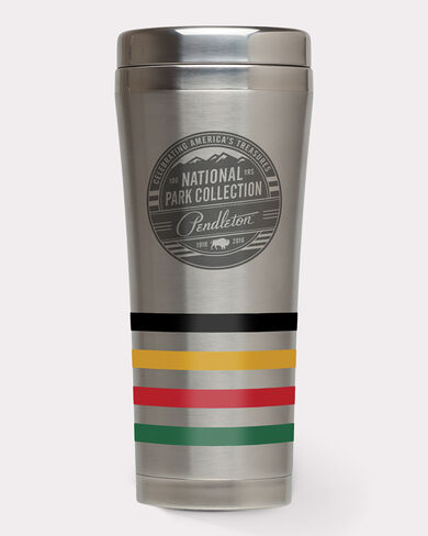 NATIONAL PARK STAINLESS STEEL TUMBLER, SILVER/STRIPES, large