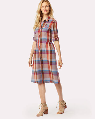HAILEY PLAID DRESS, SUNSET CANYON, large