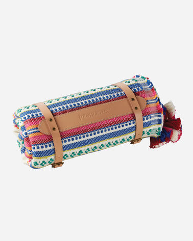 ADDITIONAL VIEW OF PALOMA STRIPE COTTON THROW IN BRIGHT
