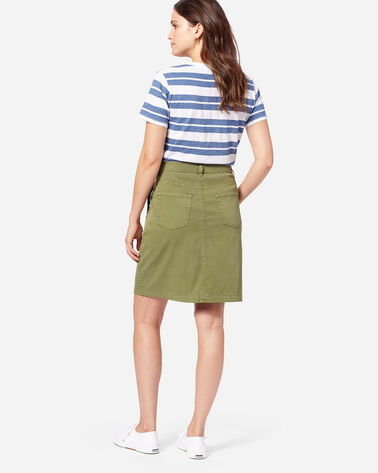ADDITIONAL VIEW OF CHINO TWILL SKIRT IN OLIVE