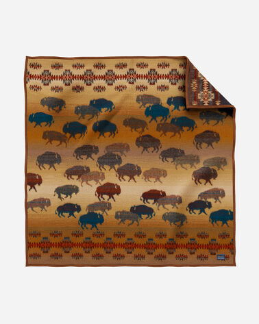 PRAIRIE RUSH HOUR THROW, RUSTIC BUFFALO, large
