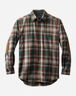 MEN'S ELBOW-PATCH TRAIL SHIRT, GREEN/GREY OMBRE, large