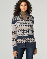 ICONIC SHAWL COLLAR CARDIGAN, BLUE MULTI, large