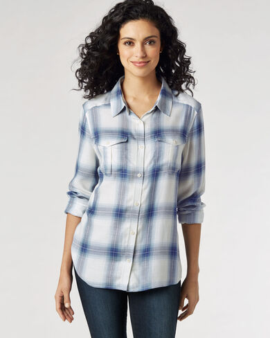 ERIN SOFT PLAID SHIRT, , large