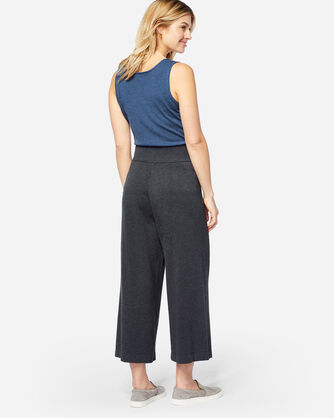 WIDE LEG KNIT PANTS, CHARCOAL, large