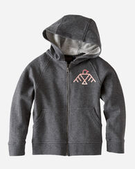 KIDS' GRAPHIC HOODIE, CHARCOAL HEATHER, large