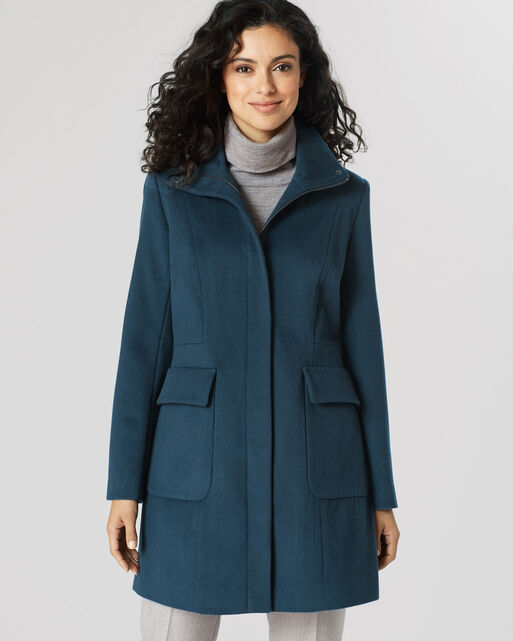 ZIP FRONT WALKER COAT, , large