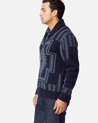 ALTERNATE VIEW OF MEN'S HARDING ZIP CARDIGAN IN NAVY/BLUE