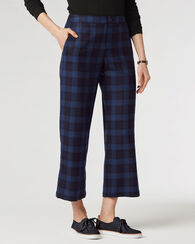 SOFT CROP PANTS, NAVY/BLUE BLOCK PLAID, large