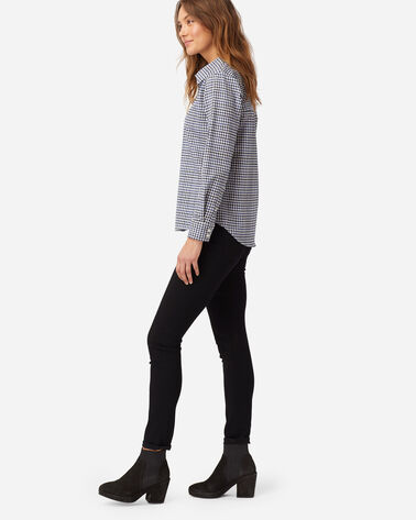 ALTERNATE VIEW OF WOMEN'S STRETCH MERINO COOPER SHIRT IN WHITE/BLUE CHECK