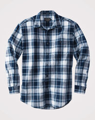 FITTED PRESTON INDIGO PLAID SHIRT, INDIGO PLAID, large