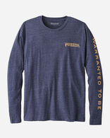 MEN'S LONG-SLEEVE PENDLETON LOGO TEE, NAVY HEATHER, large