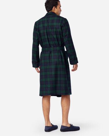 ALTERNATE VIEW OF MEN'S WASHABLE WHISPERWOOL ROBE IN BLACK WATCH TARTAN