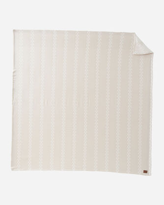 ALTERNATE VIEW OF TRIANGLE TRAIL COTTON BLANKET IN BEIGE